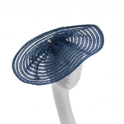 Nerida Fraiman - Hepburn cruise hat in French navy with bow and diamonte detail