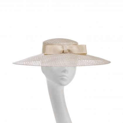 Nerida Fraiman - Mesh siname tailored Givenchy hat with French grosgrain bow detail