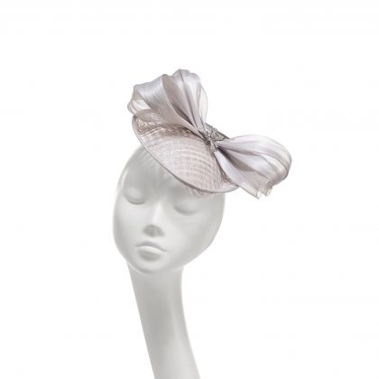 Nerida Fraiman - Princess Diana mesh siname silk abaca bow wedding hat