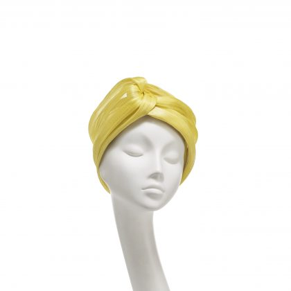Nerida Fraiman - Primrose yellow silk abaca twist cruise headwrap