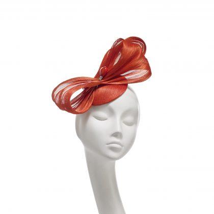 Nerida Fraiman - Silk abaca Valentine hat with heart hatpin