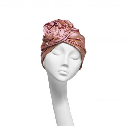 Nerida Fraiman - Shot silk Dupion luxury evening Rose turban