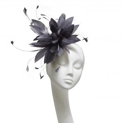 Nerida Fraiman - Signature bridal spray fascinator with fine hand cut feathers on comb