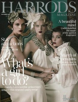 Nerida Fraiman - Bridal fascinator, Harrods Magazine