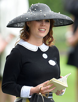 Nerida Fraiman - HRH Princess Eugenie in hand-stitched pearl Hepburn hat, Royal Ascot