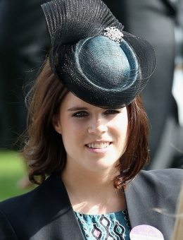 Nerida Fraiman - HRH Princess Eugenie in two-tone pillbox hat, Royal Ascot
