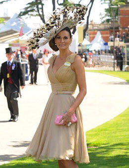 Nerida Fraiman - Isabell Kristansen in diamond cut feather couture millinery, Royal Ascot