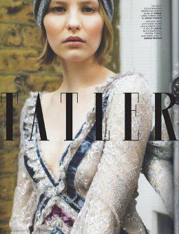 Nerida Fraiman - Luxury lurex knot front turban, Tatler