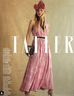 Nerida Fraiman - Pretty pink silk bow turban, Tatler