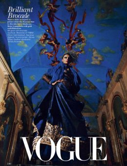 Nerida Fraiman - Striped feather fascinator, Vogue India