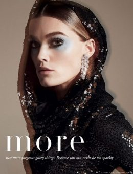 Nerida Fraiman - Stunning sequin snood, Tatler 2018