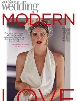 Nerida Fraiman - Veiled flower bridal headband, Brides Magazine
