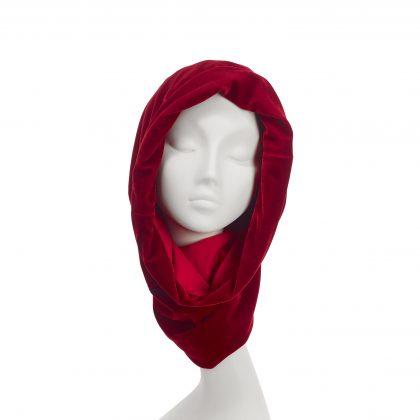 Nerida Fraiman - Luxurious velvet snood lined in softest cotton jersey