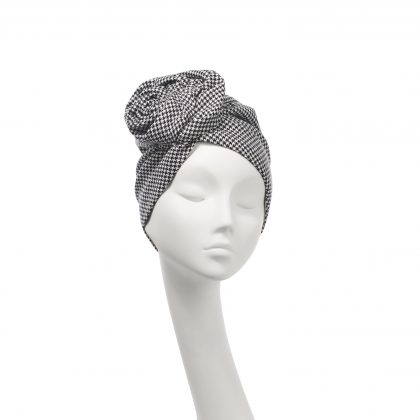 Nerida Fraiman - Pure wool houndstooth Rose turban