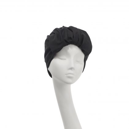 Nerida Fraiman - Roll front Elizabeth turban in lustrous pure cotton