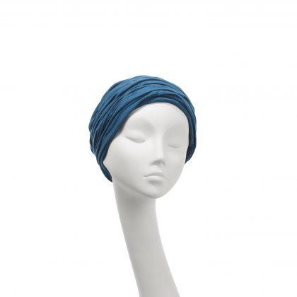 Nerida Fraiman - Everyday stretch wool jersey Aisha turban in teal