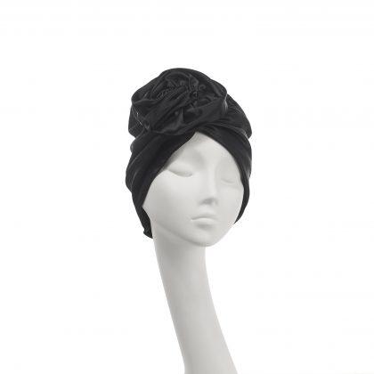 Nerida Fraiman - Luxury Rose evening turban in Duchesse satin