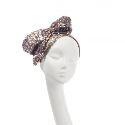 Nerida Fraiman - Multi-colour sequin bow party headband