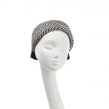 Nerida Fraiman - Jackie-O paper straw twist pillbox hat with classic vintage petersham bow