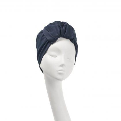 Nerida Fraiman - Kirsty everyday turban in dark navy stretch cotton