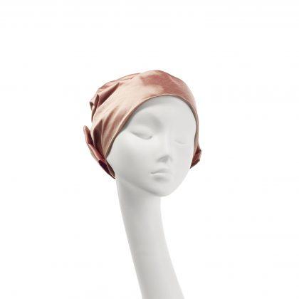 Nerida Fraiman - Multiway shot silk Dupion Bow turban in sunset
