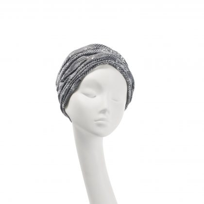Nerida Fraiman - Sequinned Prince of Wales check Aisha turban