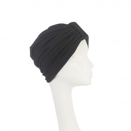 Nerida Fraiman - Mid season stretch crepe Naomi turban in coal black