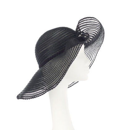 Nerida Fraiman - Super light runway crin sunhat with zig zag appliqué detailing and hatpin